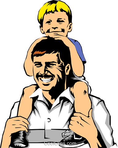 Father & son Royalty Free Vector Clip Art illustration peop0183