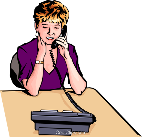 Woman with telephone Royalty Free Vector Clip Art illustration peop0197