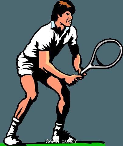 网球选手 免版税矢量剪贴画插图