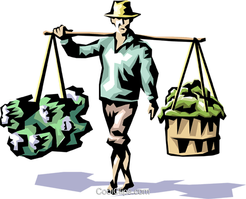 Rice picker Royalty Free Vector Clip Art illustration peop1146