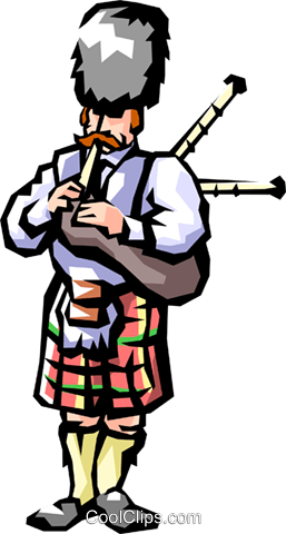 Scottish bagpipes Royalty Free Vector Clip Art illustration peop1148