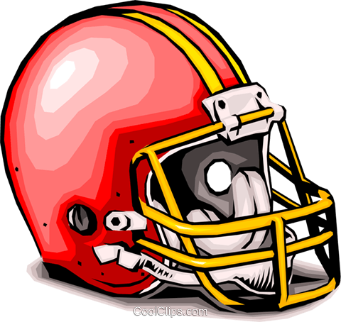 Football helmet Royalty Free Vector Clip Art illustration spor0003