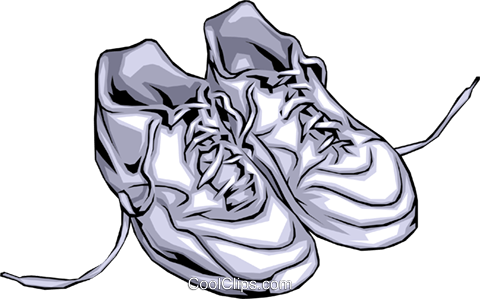 Running shoes Royalty Free Vector Clip Art illustration spor0005