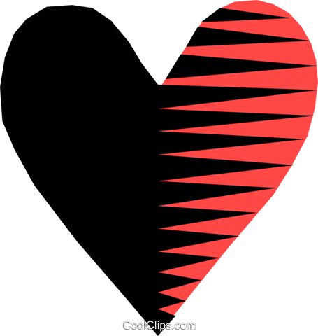 Heart Royalty Free Vector Clip Art illustration text0523
