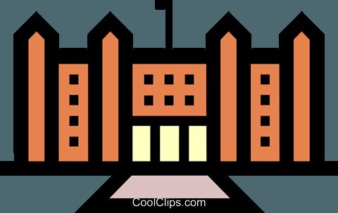 政府大楼 免版税矢量剪贴画插图