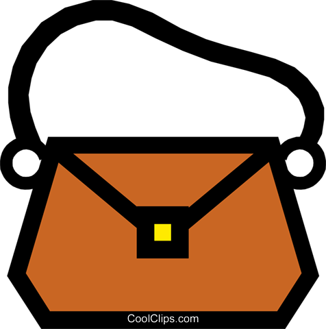 Purse Royalty Free Vector Clip Art illustration busi0260