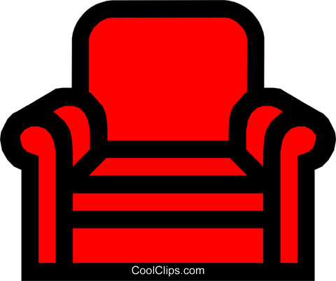 Comfortable chair Royalty Free Vector Clip Art illustration hous0296