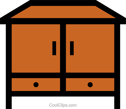 Armoire Royalty Free Vector Clip Art illustration hous0302