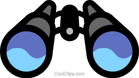 Binoculars Royalty Free Vector Clip Art illustration hous0338