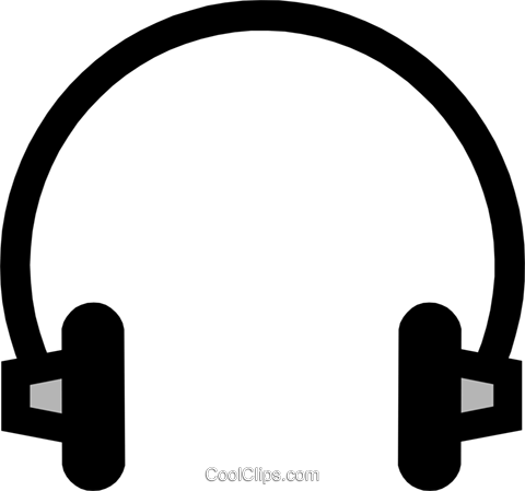 Headphones Royalty Free Vector Clip Art illustration hous0348