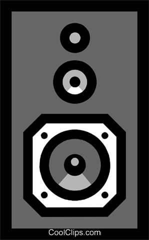 Stereo speakers Royalty Free Vector Clip Art illustration hous0352