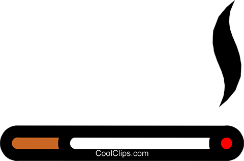 Cigarette Royalty Free Vector Clip Art illustration hous0735