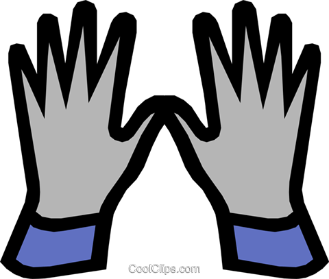 Safety gloves Royalty Free Vector Clip Art illustration indu0380