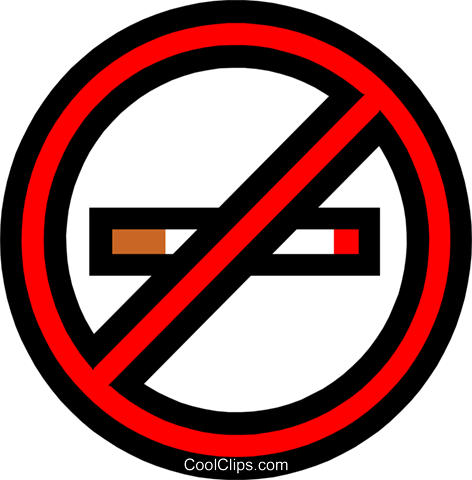 No smoking sign Royalty Free Vector Clip Art illustration medi0165