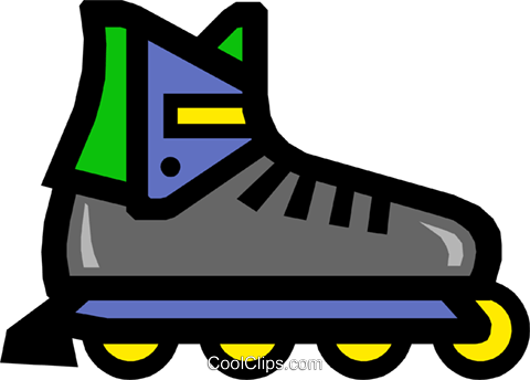 In-line skates Royalty Free Vector Clip Art illustration spor0101