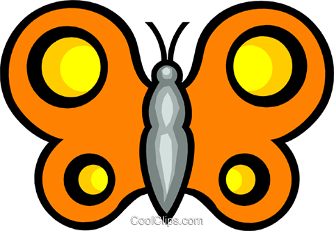 Butterfly Royalty Free Vector Clip Art illustration anim0561