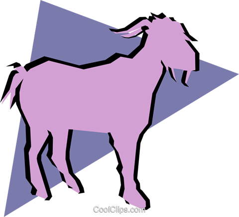 Goats Royalty Free Vector Clip Art illustration anim0872
