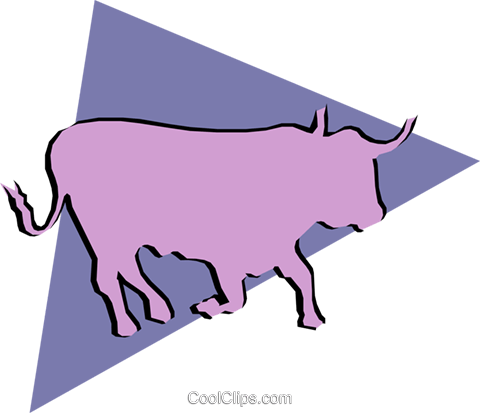 Bulls Royalty Free Vector Clip Art illustration anim0875