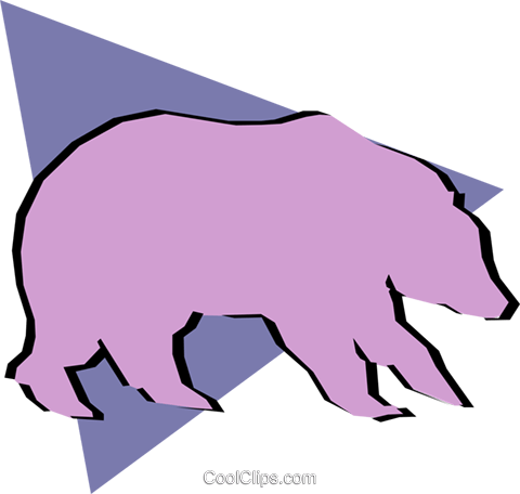 Bears Royalty Free Vector Clip Art illustration anim0894