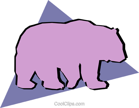Grizzly bears Royalty Free Vector Clip Art illustration anim0895