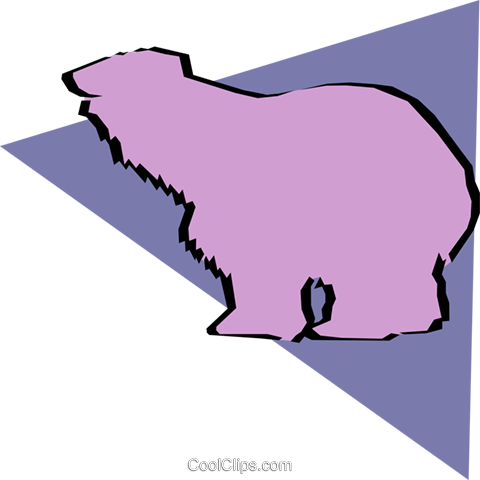 Polar bears Royalty Free Vector Clip Art illustration anim0896