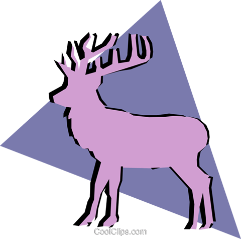 Deer Royalty Free Vector Clip Art illustration anim0899