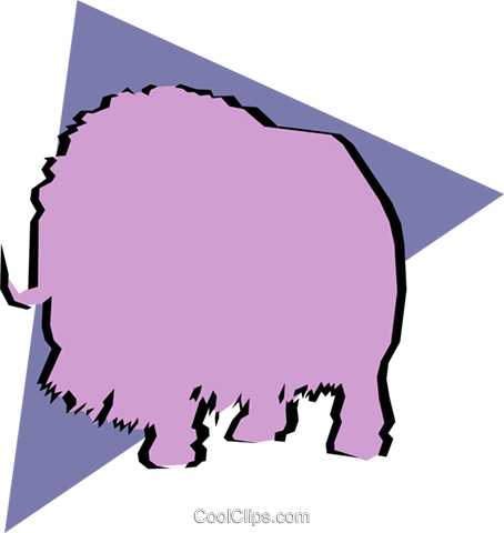 Musk ox Royalty Free Vector Clip Art illustration anim0901