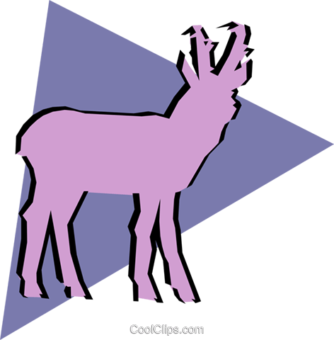 Antelope Royalty Free Vector Clip Art illustration anim0902