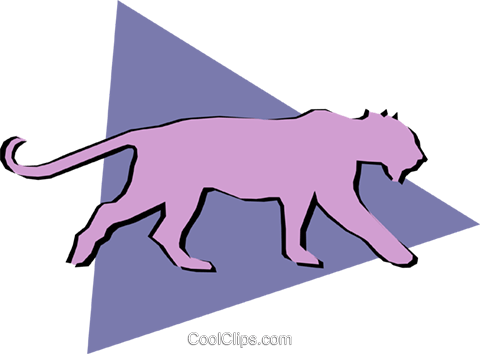 Lion Royalty Free Vector Clip Art illustration anim0909