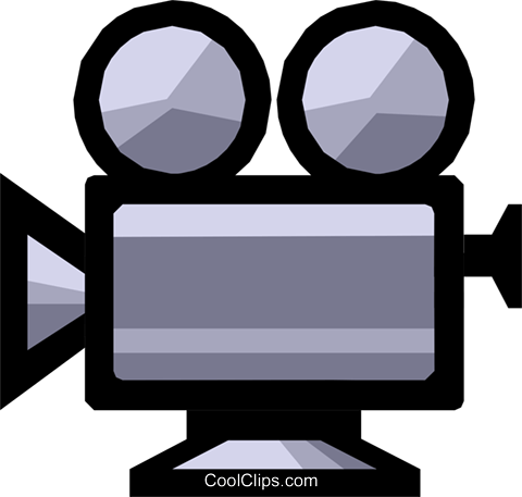 Motion picture camera Royalty Free Vector Clip Art illustration arts0118