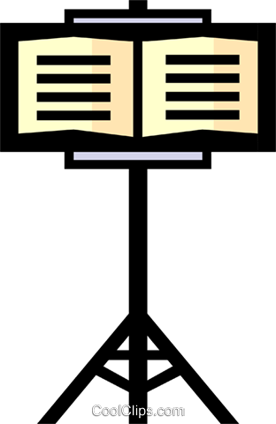 Music stand Royalty Free Vector Clip Art illustration arts0122