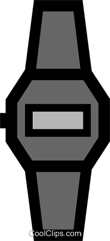 Wristwatches Royalty Free Vector Clip Art illustration busi0292