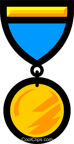 Medals Royalty Free Vector Clip Art illustration busi0298