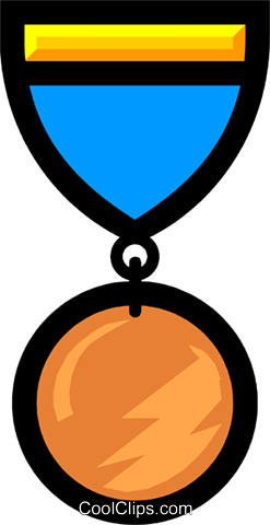 Medals Royalty Free Vector Clip Art illustration busi0299