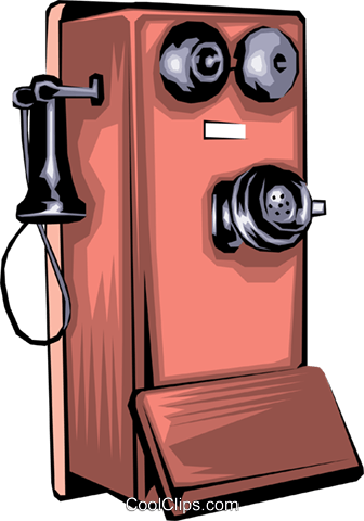 Antique telephone Royalty Free Vector Clip Art illustration busi0305