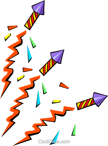 Fire crackers Royalty Free Vector Clip Art illustration even0438