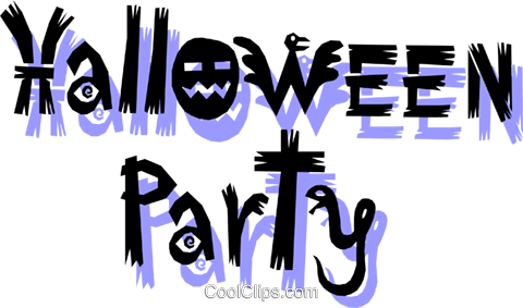 Halloween-Party Vektor Clipart Bild even0447