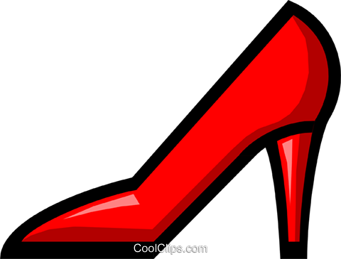 Lady's shoes Royalty Free Vector Clip Art illustration hous0364