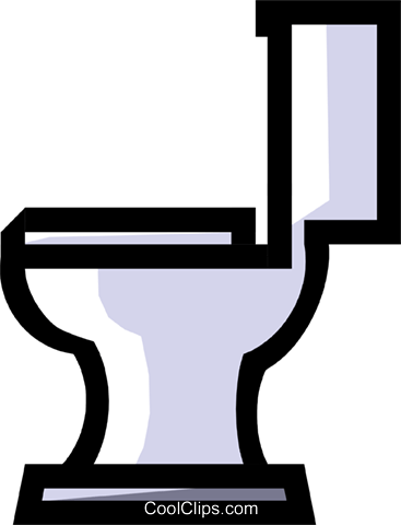 Toilet Royalty Free Vector Clip Art illustration hous0377