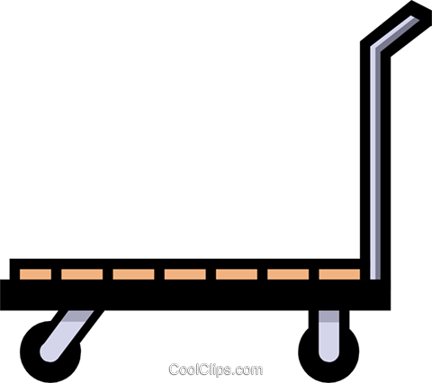 Shipping cart Royalty Free Vector Clip Art illustration indu0399