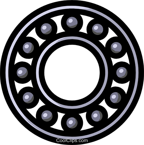 Bearings Royalty Free Vector Clip Art illustration indu0400