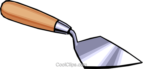Trowel Royalty Free Vector Clip Art illustration indu0407