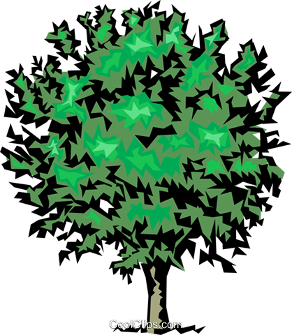 Tree Royalty Free Vector Clip Art illustration natu0083