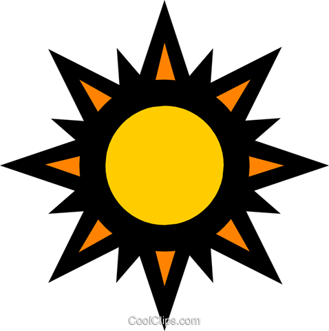 Sunshine Royalty Free Vector Clip Art illustration natu0204