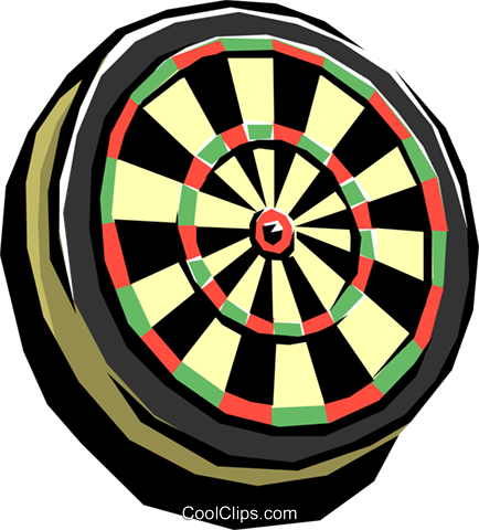 Dartboard Royalty Free Vector Clip Art illustration spor0059