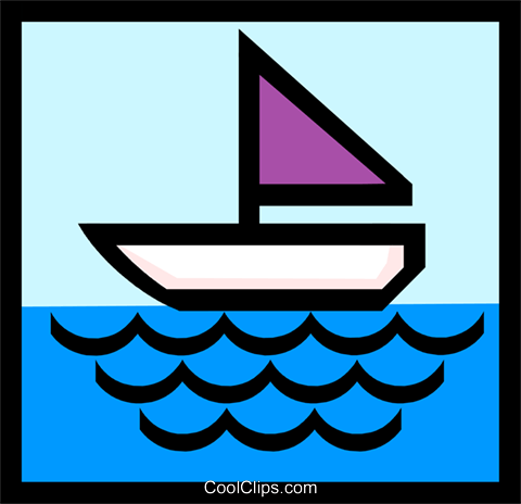 Sailing symbol Royalty Free Vector Clip Art illustration tran0309