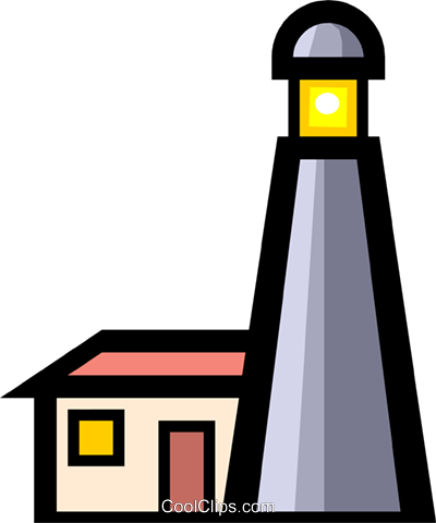Lighthouses Royalty Free Vector Clip Art illustration tran0311