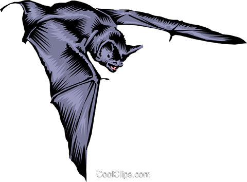 Bat Royalty Free Vector Clip Art illustration anim0188