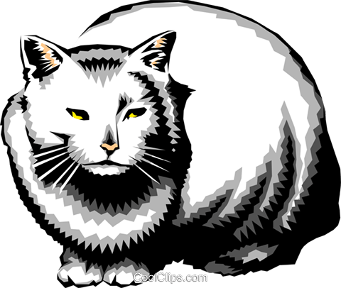 Cat Royalty Free Vector Clip Art illustration anim0196