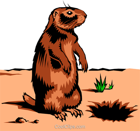 Gopher Royalty Free Vector Clip Art illustration anim0222